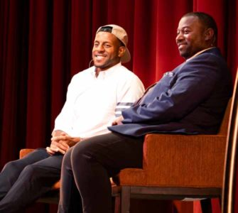 Andre Iguodala speaks at JCCSF event