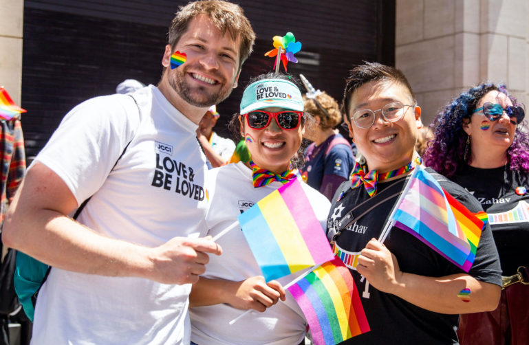 Participants at San Francisco Pride Parade