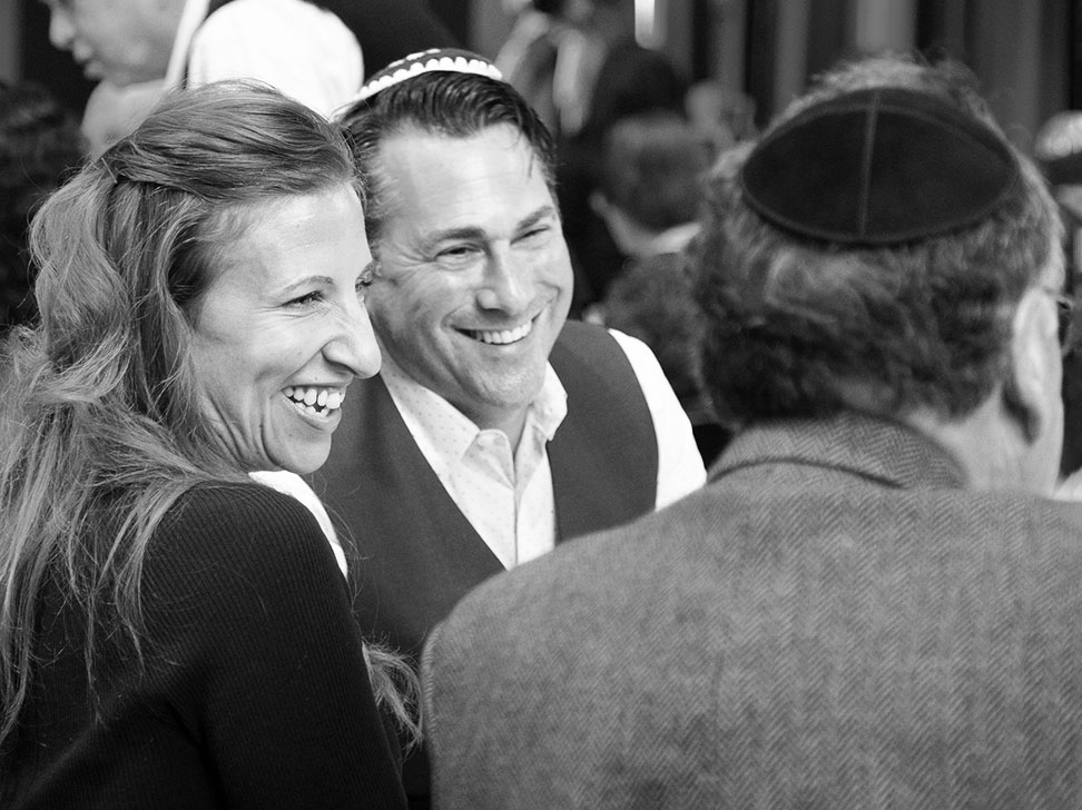 Couple at Passover Seder