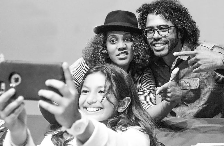 Daveed Diggs taking selfie at the JCCSF
