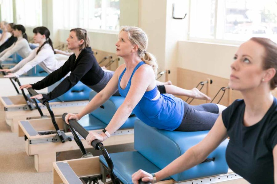 Group pilates session