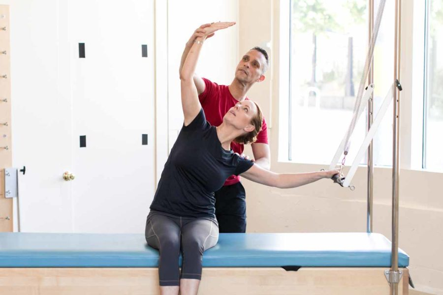 One-on-one pilates session