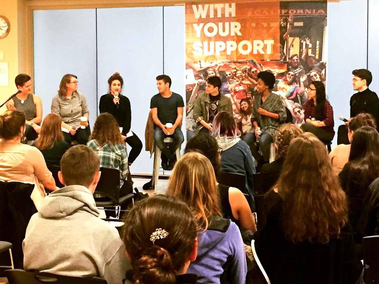Teen arts group attends RENT panel