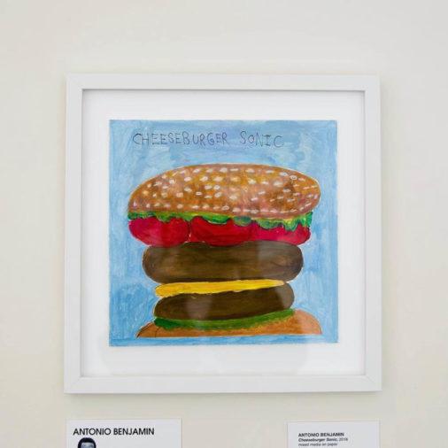 Water color of a hamburger