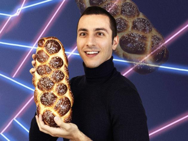 Chef Jake Cohen holding Challan