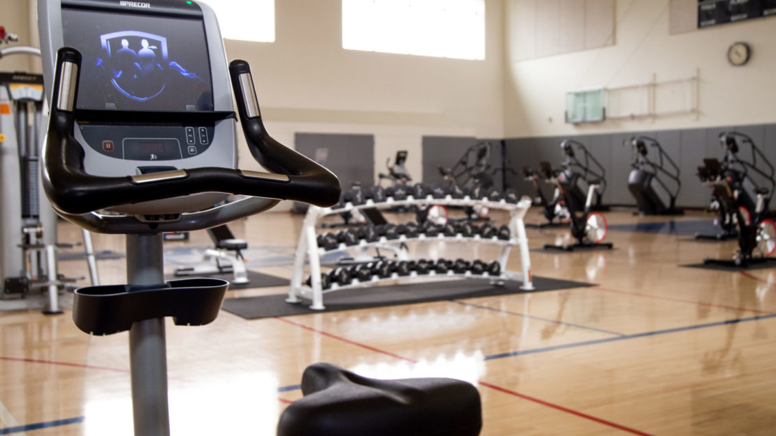 fitness equipment on floor