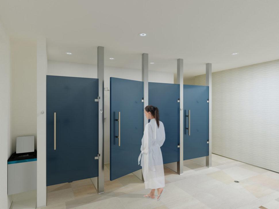 Women's locker room shower